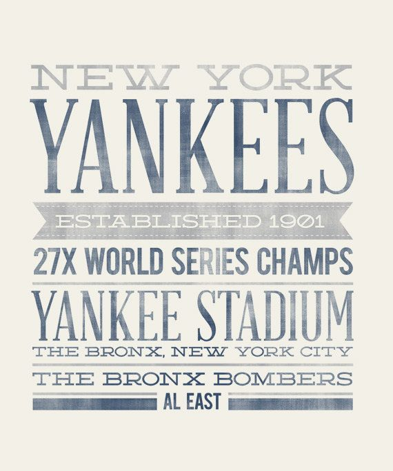 New York Yankees 8x10 Rustic Vintage Style By Augustpark New