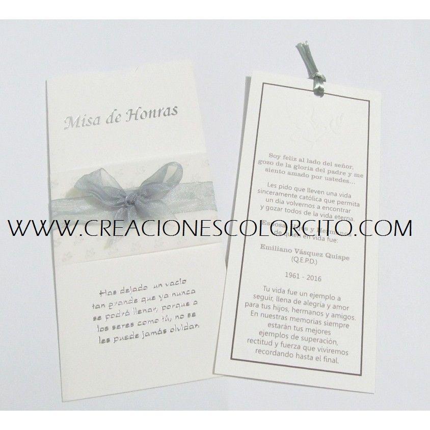 Invitación Misa Plateada Invitaciones Tarjetas De