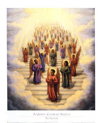 A Gospel Choir Of Angels in 2019 | Angels: Paintings, Illustrations
