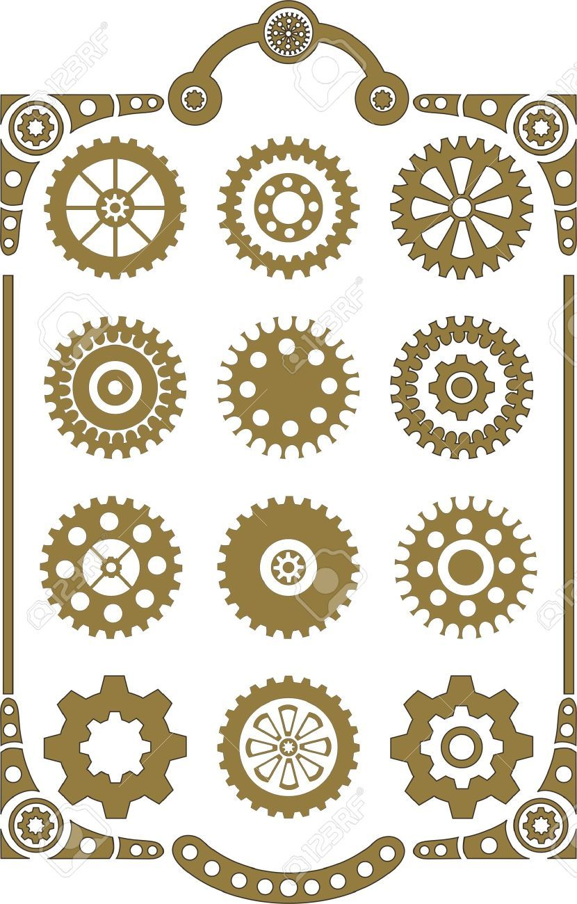 steampunk gear coloring page google search mkedenim pinterest