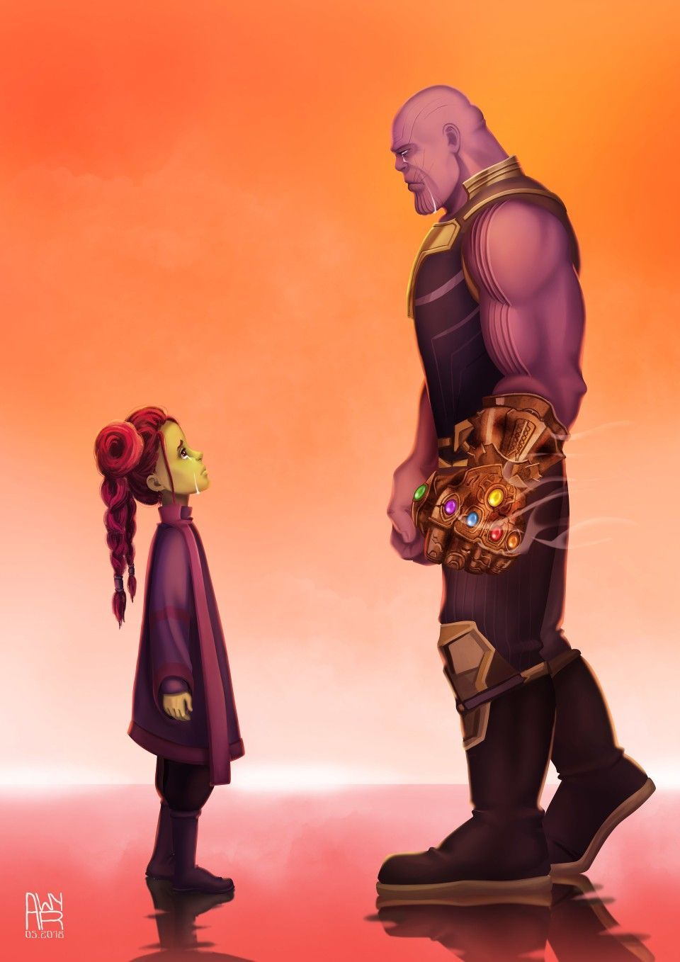 Father And Daughter Gamora Thanos Gamora Thanos Marvel Cosplayclass