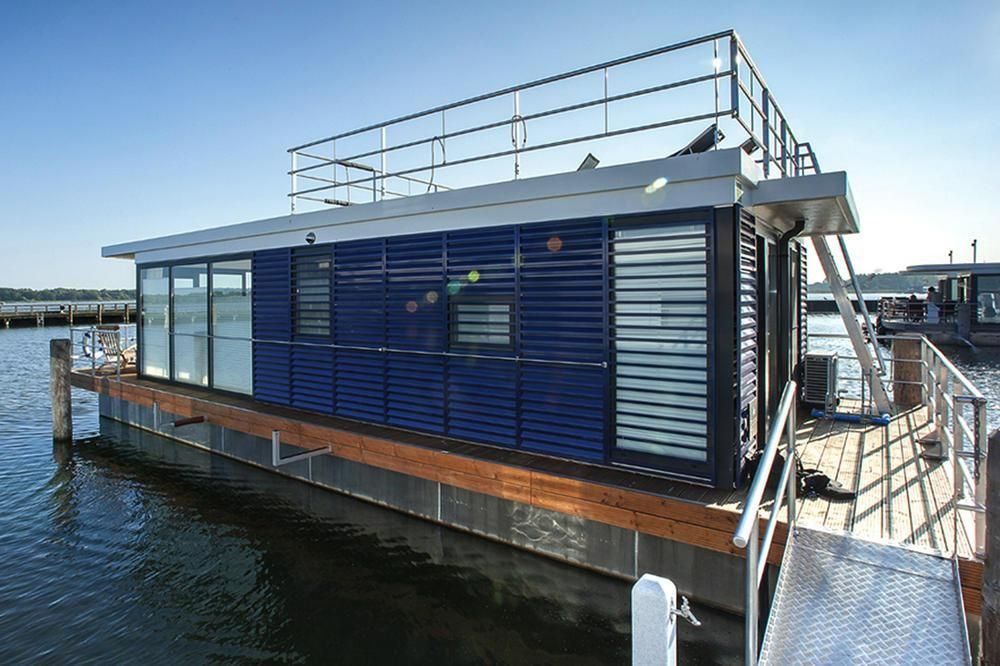 Hausboot Floating Houses Blue Active Ribnitz Damgarten Dos06076 Hausboot Schwimmende Hauser Hausboot Mieten