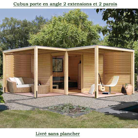Cubus en angle 320 x320 cm avec 2 extentions et 2 parois for Amenagement jardin noumea
