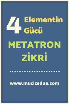 4 elementin gücünü veren çok kuvvetli Metatron Zikri.