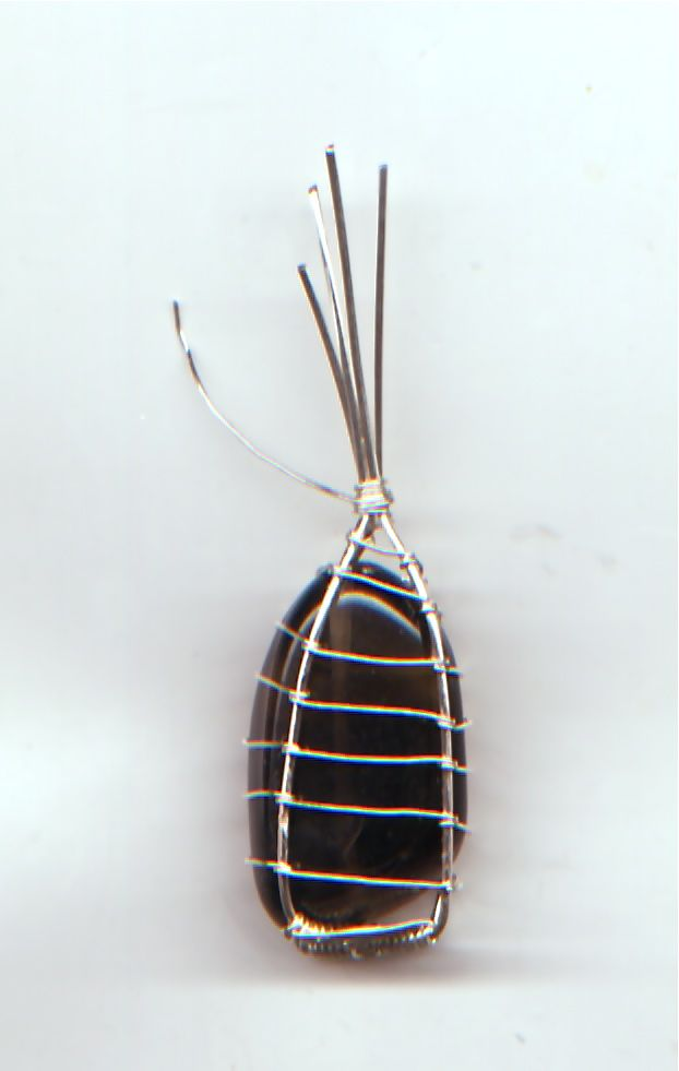 Tutorial :: Wire wrapped stone case | Craft Ideas | Pinterest | Wire ...
