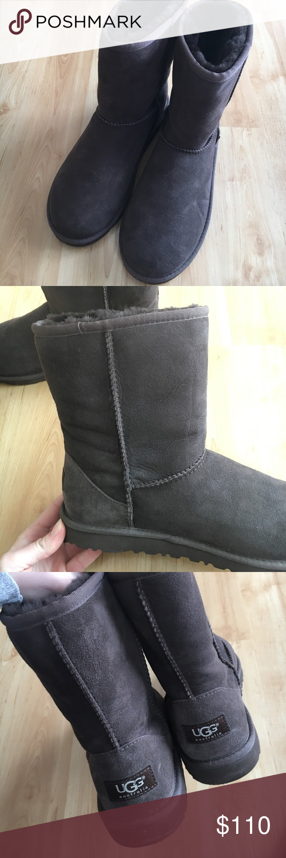 Brown (chocolate) uggs Worn a few times no stains or salt marks! excellent shape UGG Shoes Winter & Rain Boots