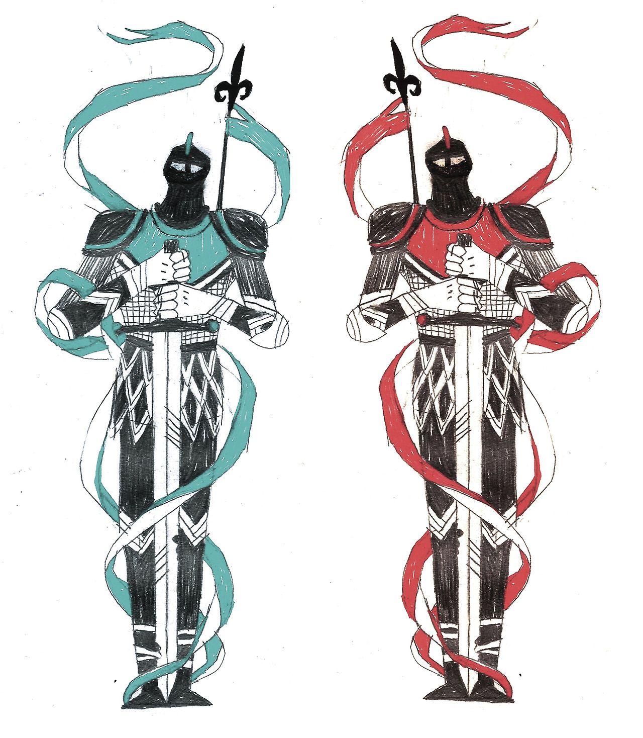 awesome Tarmasz knight drawind for tattoo