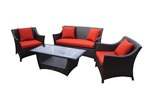 Rattan Lounge Set - Polyrattan Gartenmöbel Garnitur Sofa ...