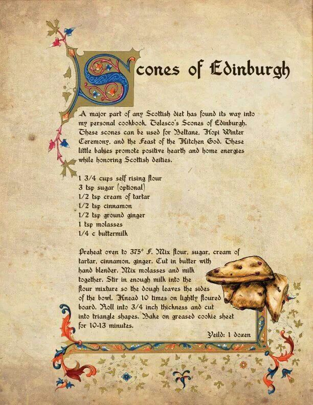 Scone recipe for Beltane