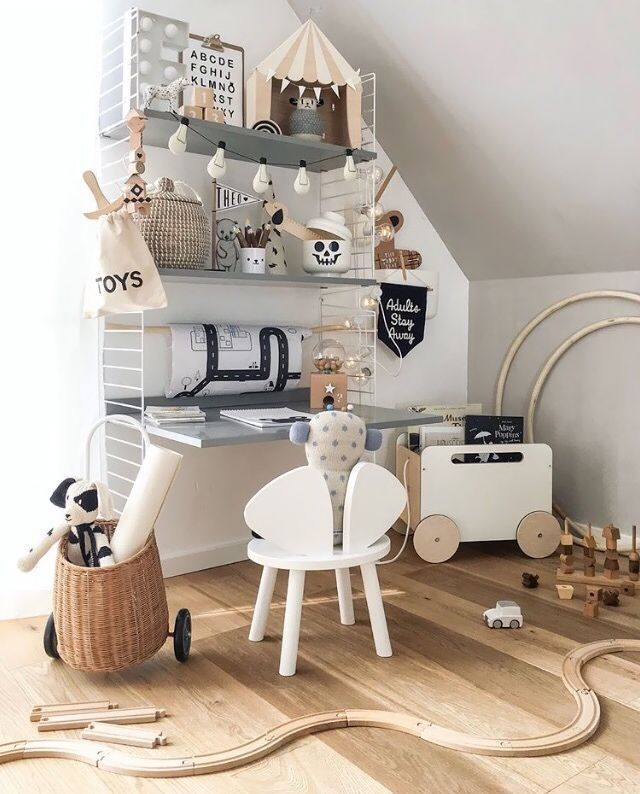 Scandinavian Kids Room: Monochrome Scandinavian Kid Room In 2019
