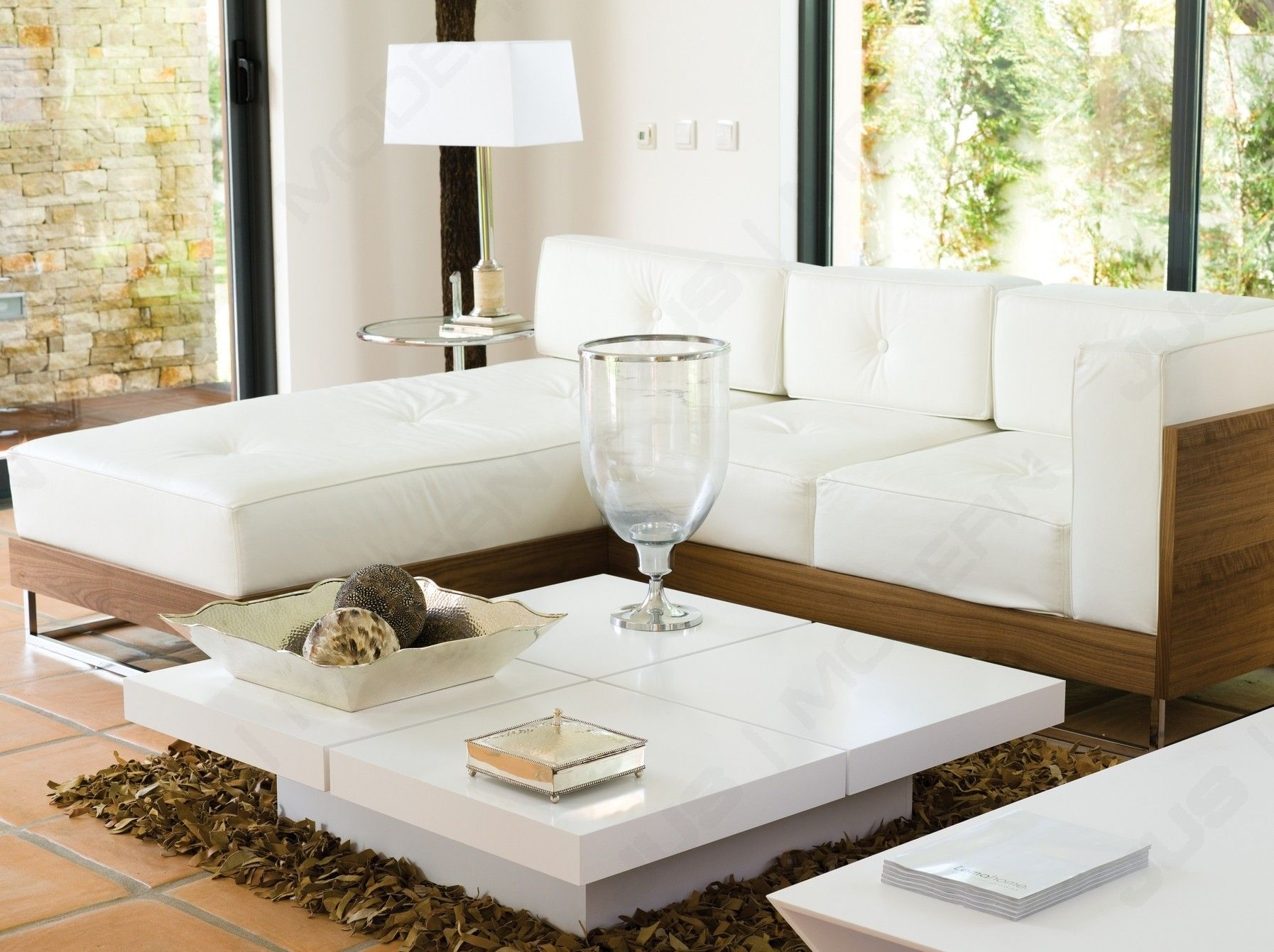 Kyoto 4 Tops Coffee Table In Pure White By Tema Home Nspired In
