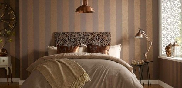 vertikale streifen tapeten schlafzimmer Wandgestaltung Pinterest - tapeten für schlafzimmer bilder