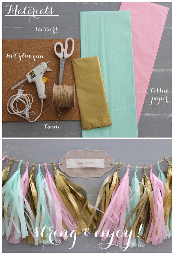 DIY Anleitung für Quasten Girlande von Linen Lace Love