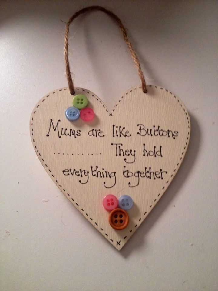 Painted Wooden Heart Decorated With Words And Buttons Wooden Hearts Handmade Gifts Dog Tag Necklace
