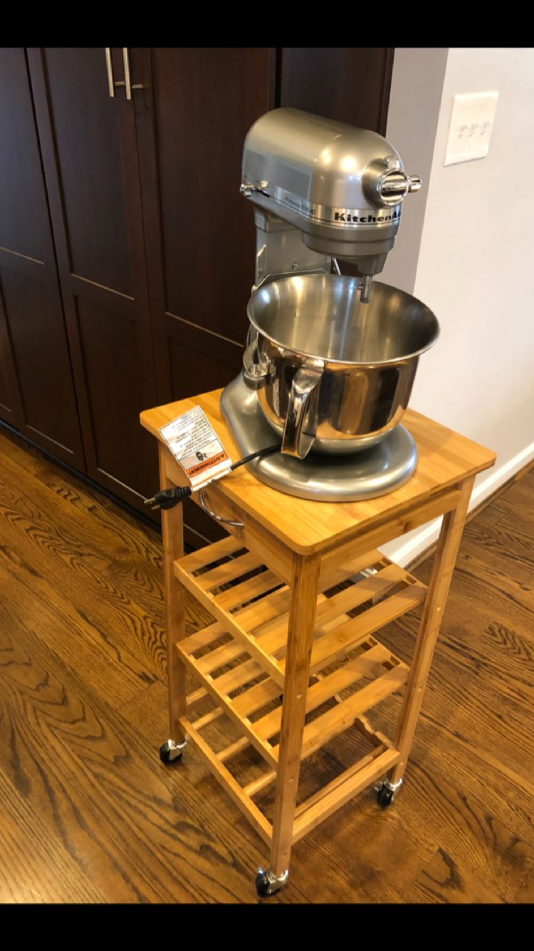 Found This Inexpensive Rolling Cart For My Stand Mixer From Amazon Kitchen Aid Kitchen Aid Mixer Kitchen Roll