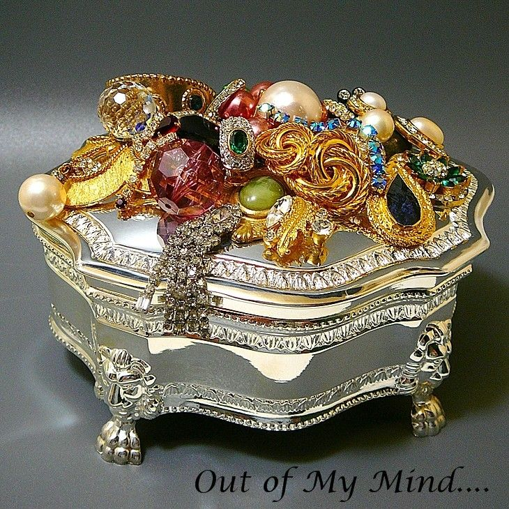 Inside Out Out of My Mind Collage Jewelry Box Out of my mind
