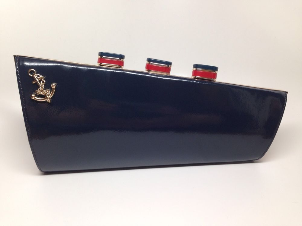NWT Kate Spade AUTHENTIC Nautical All Aboard Boat Ship Bag Purse Clutch RARE #KateSpadeNewYork #Clutch | Purses and bags, Clutch handbag, Purses