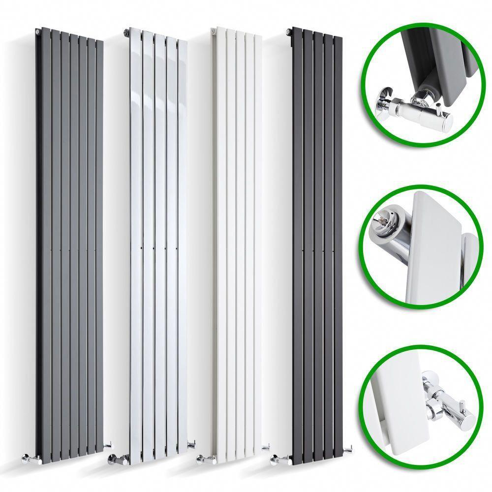 Vertical Designer Radiator Tall Upright Flat Column Panel Rad Central Heating UK