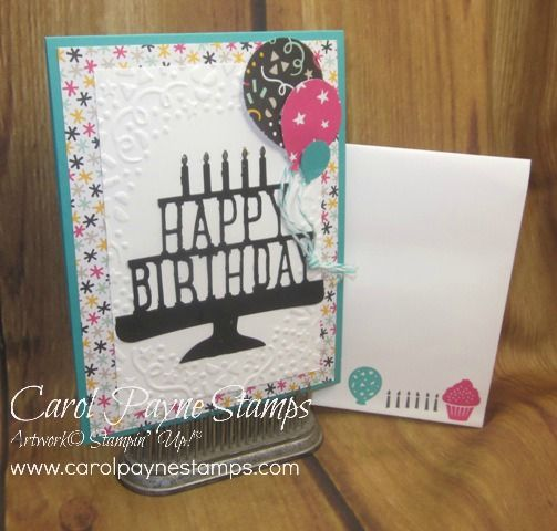 Stampin up party party pop up thinlet dies its my party party pop up wishes by carol payne cards and paper crafts at splitcoaststampers bookmarktalkfo Images