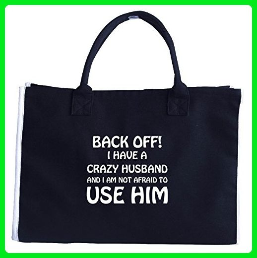 Crazy Husband Funny Gift For Any Funny Wife - Tote Bag - Top handle