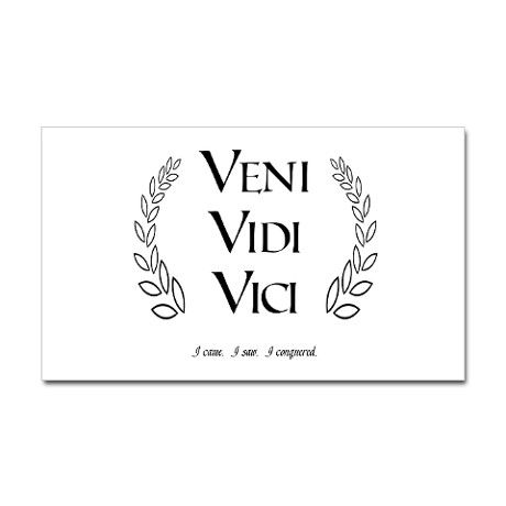 Veni vidi vici rectangular decal veni vidi vici and tattoo - Veni vidi vici tatouage ...