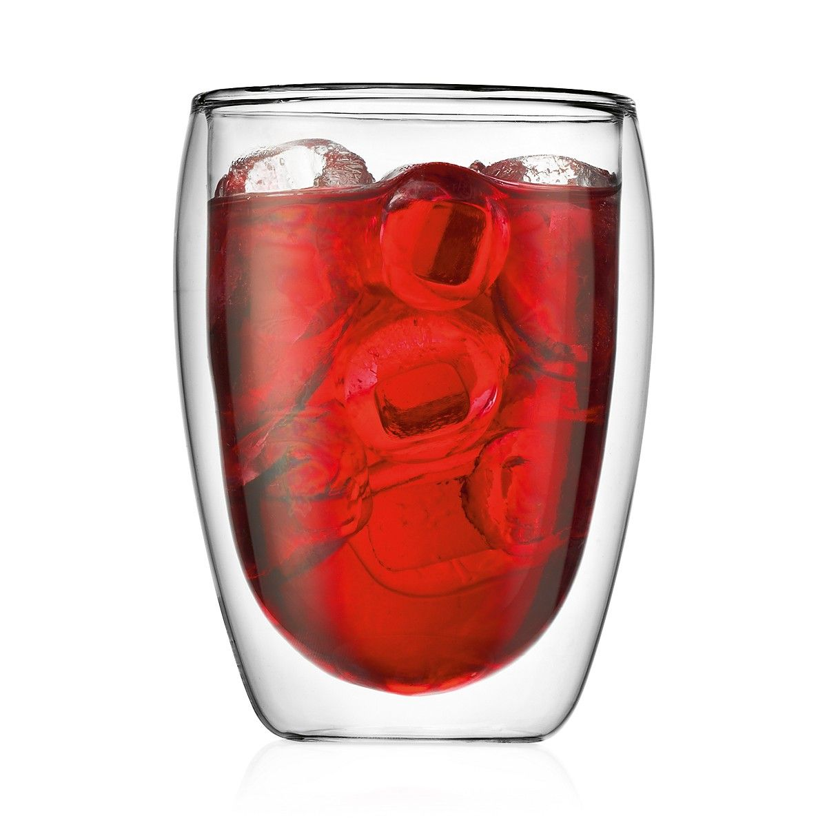Bodum Pavina Medium Two Piece Glass Beer Glass Set Double Wall Tumblers Double Wall Glass