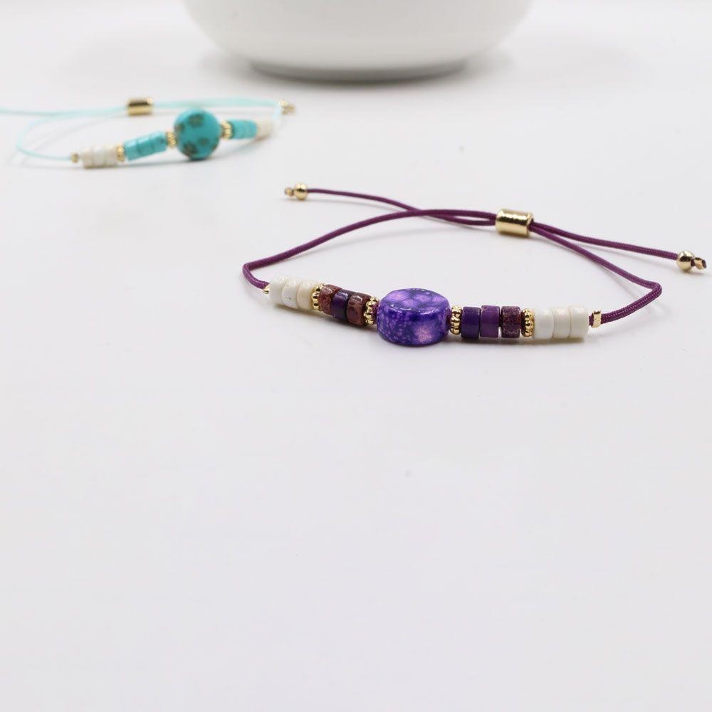 اسواره سحاب كاجوال بالاحجار الملونه متوفر الوان مختلفه اساور اسواره Accessories Bracelets Beaded Bracelets Turquoise Bracelet