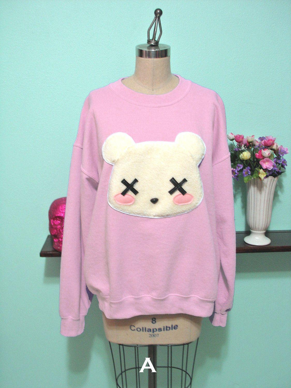 Pastel Goth Kawaii Grunge Deaddy Bear - Dead Teddy Bear Oversized Sweatshirt oTWpHXoi