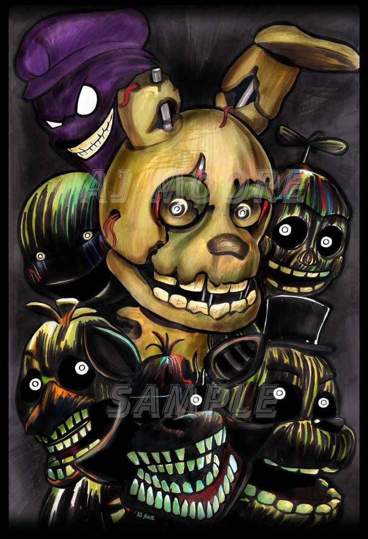 Phantom Animatronics' - Five Nights at Freddy's 3 By Artist
