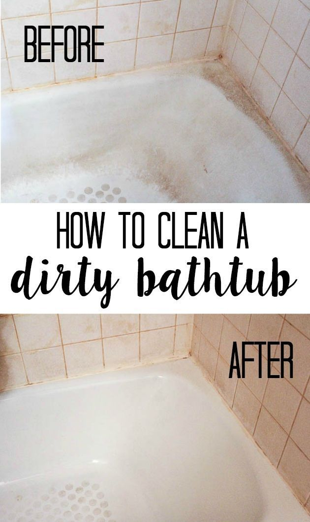 How to Clean a Dirty Bathtub - moisissure carrelage salle de bain