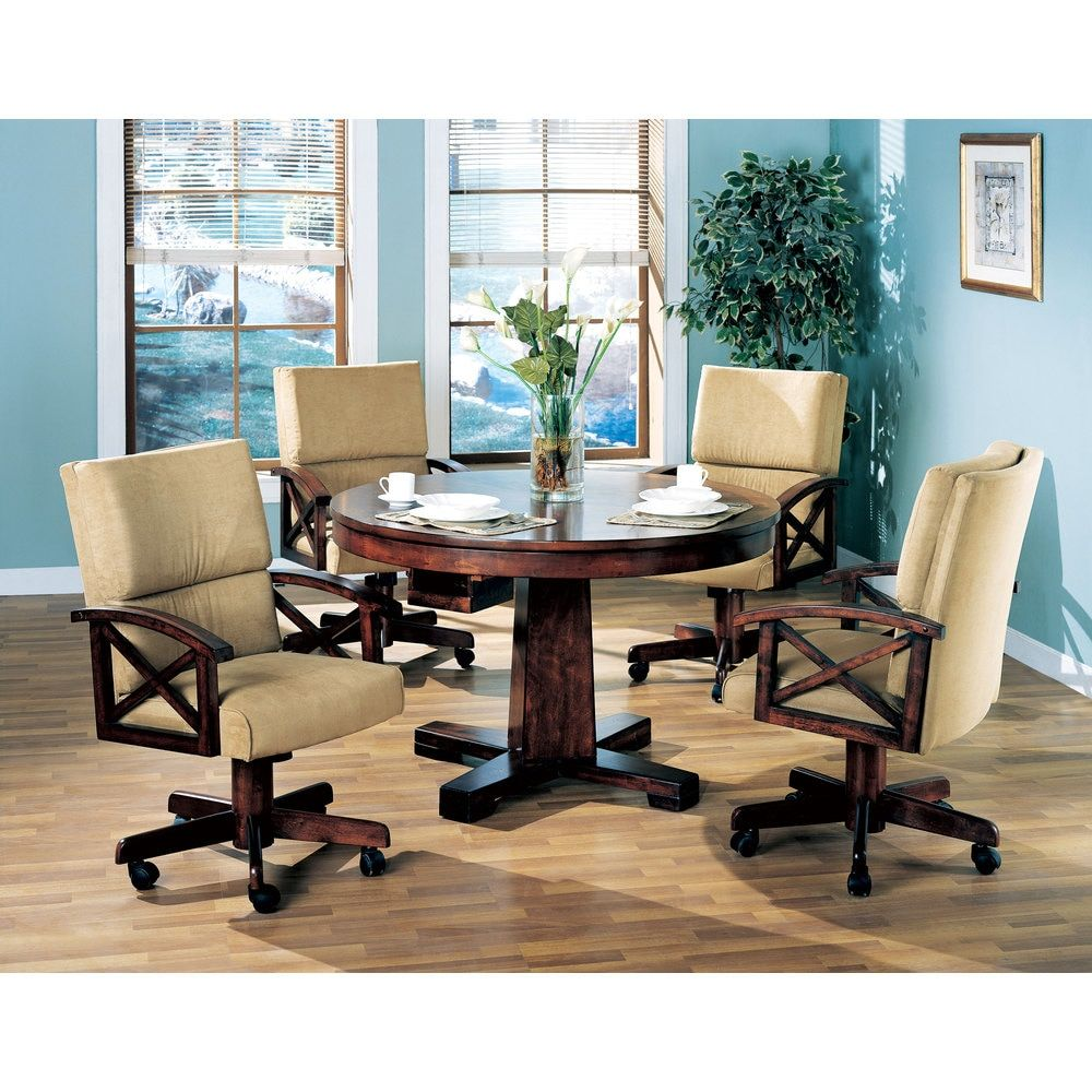 Coaster Company Oak Convertible Dining and Game Table