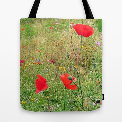 three flowers/Drei Blüten Tote Bag by Karl-Heinz Lüpke - $22.00