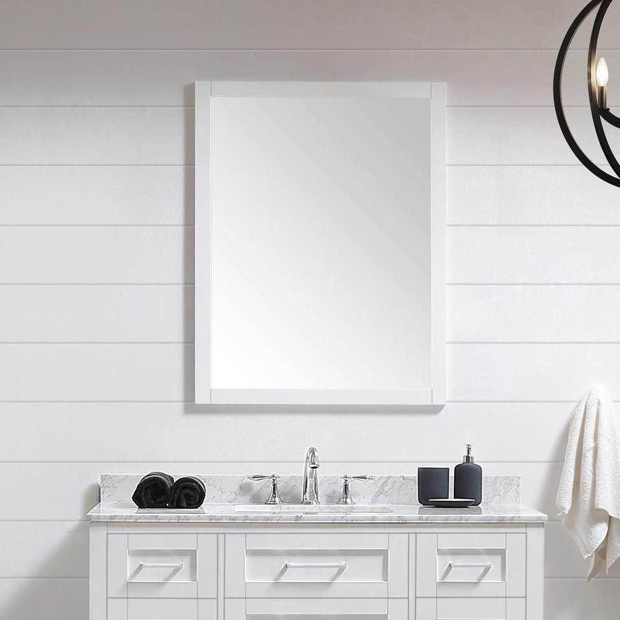 Ove Decors Tahoe 28 In White Rectangular Bathroom Mirror Lowes Com In 2021 Bathroom Mirror Rectangular Bathroom Mirror Wood Framed Bathroom Mirrors [ 900 x 900 Pixel ]