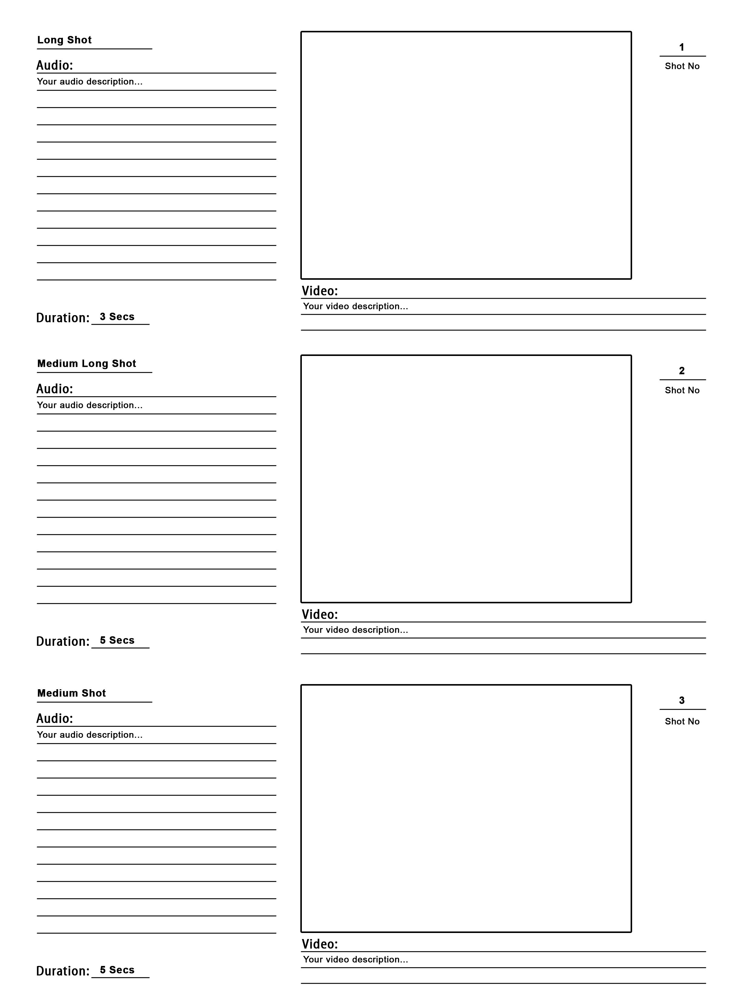 Storyboard Template PSD For Your Pre Production The Design Work - Production work order template