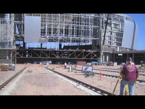 Construction Of The University Of Phoenix Stadium Retractable Roof And Field University Of Phoenix Stadium Kinetic Architecture Stadium