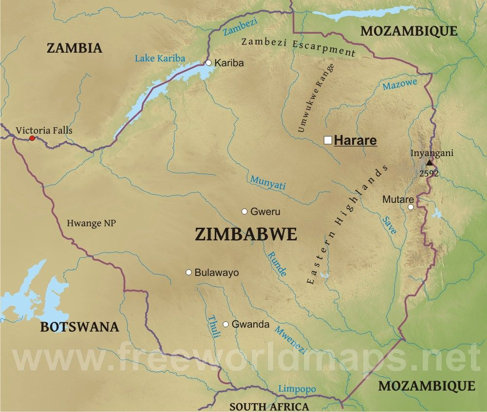 X Zimbabwe is a landlocked country Its surrounding countries are