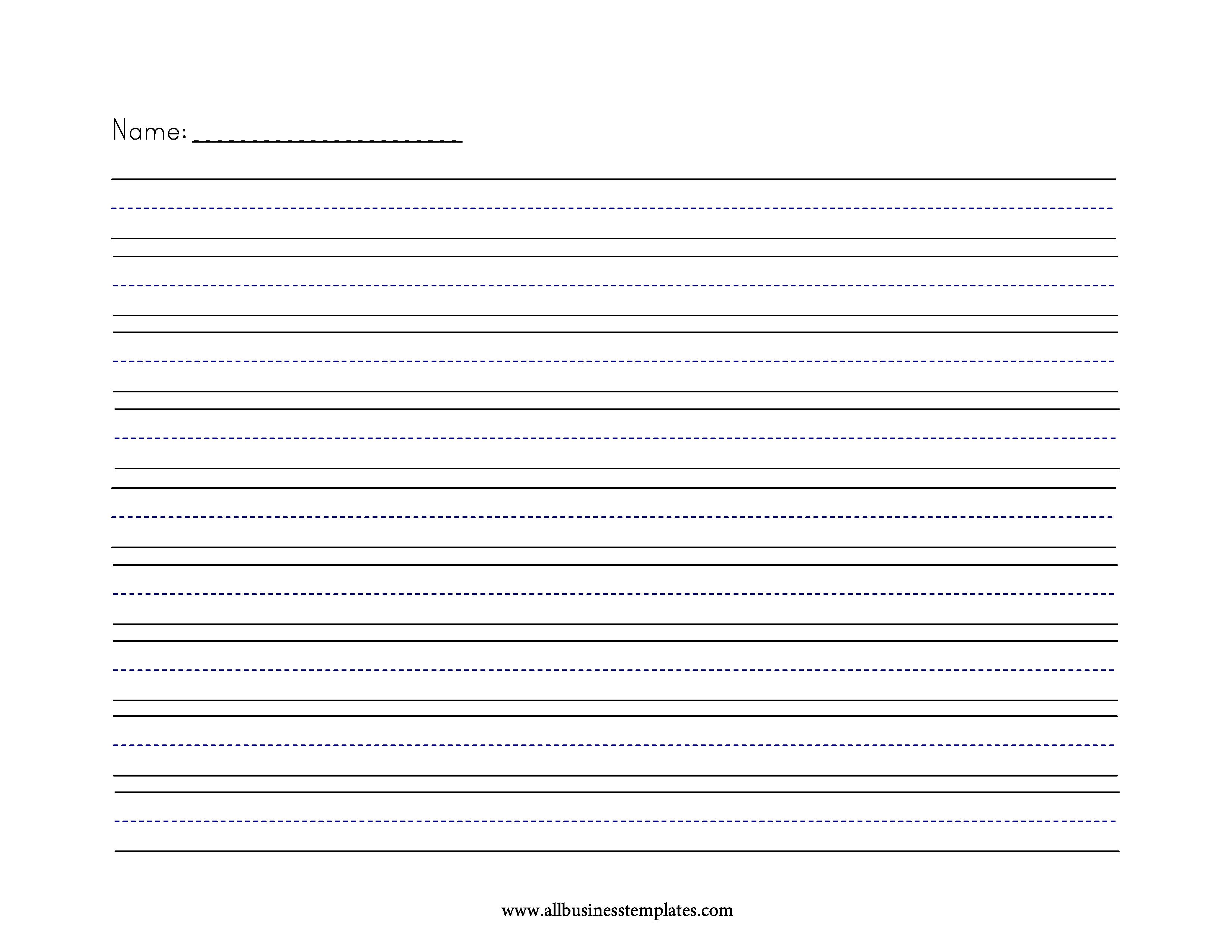 Primary Writing Paper Medium Lines