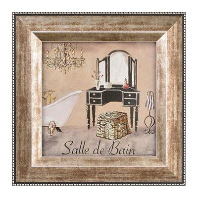 Salle de Bain II Framed Art Print Decor Pinterest