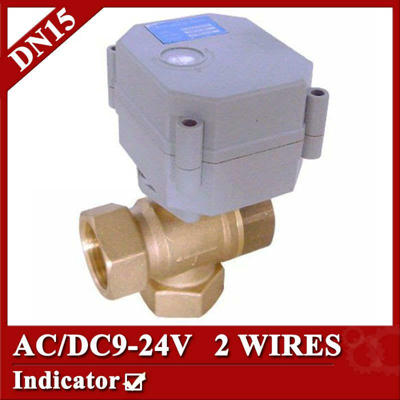 1 2 Ac Dc9 24v Dn15 Brass 3 Way T Port Mini Electric Valve 2 Wires Cr2 02 Motorized Ball Valve Normal Clo Solar Heating System Solar Heating Solar Power Diy