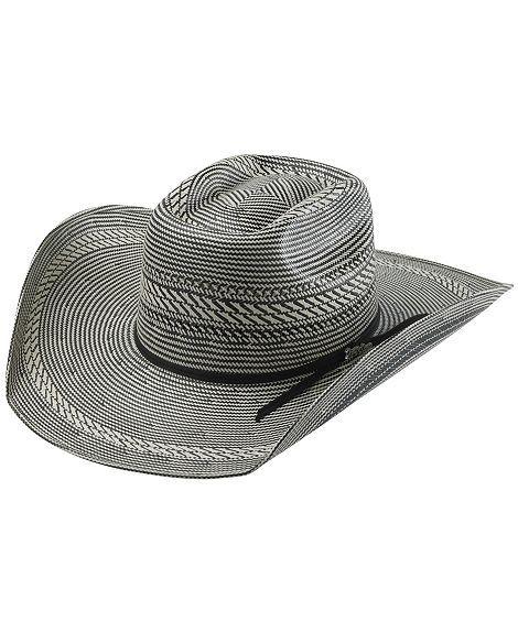 b31aa716bb1 Tony Lama Vegas Black   White Straw Cowboy Hat