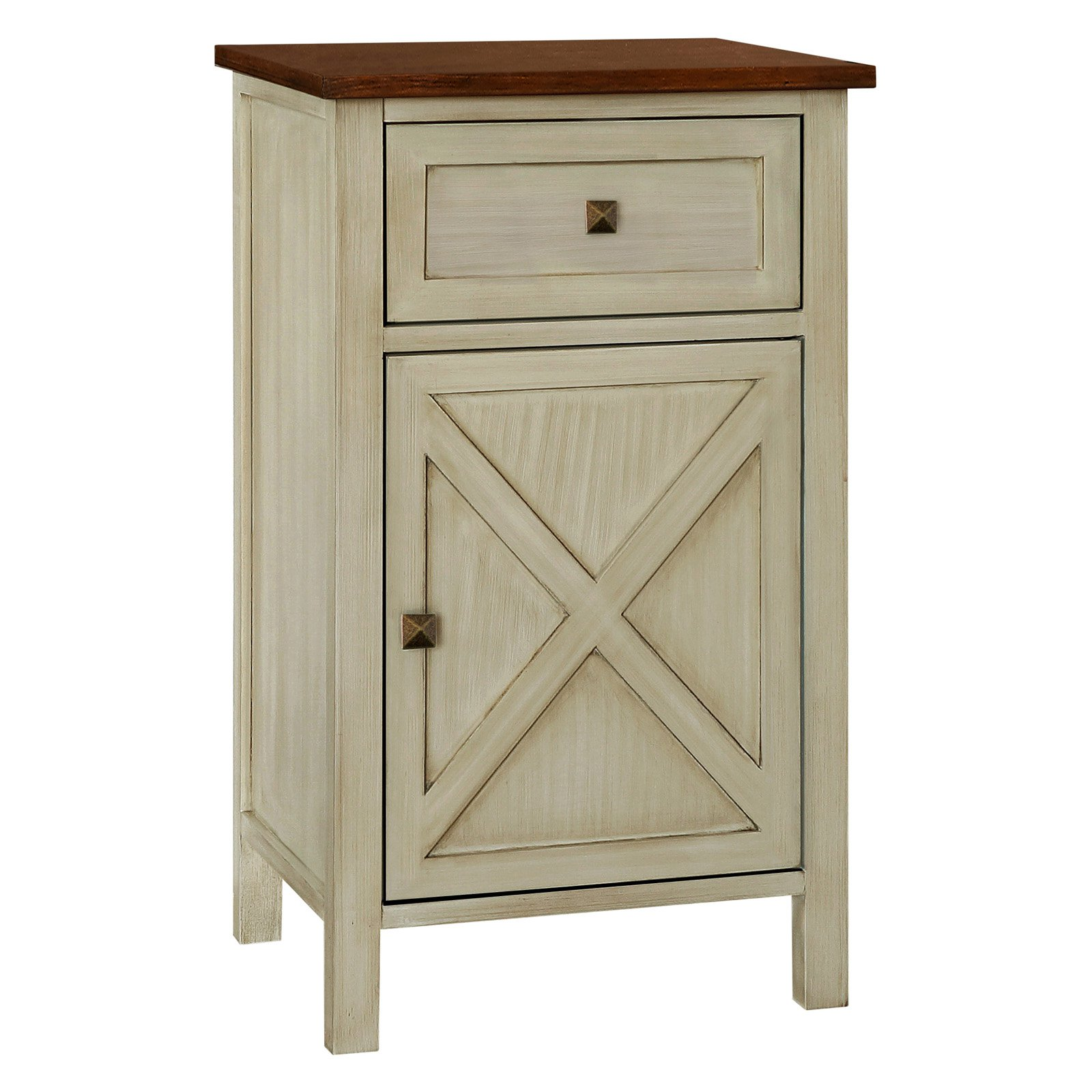 Gallerie Decor Framingham Farmhouse Side Table Farmhouse Side