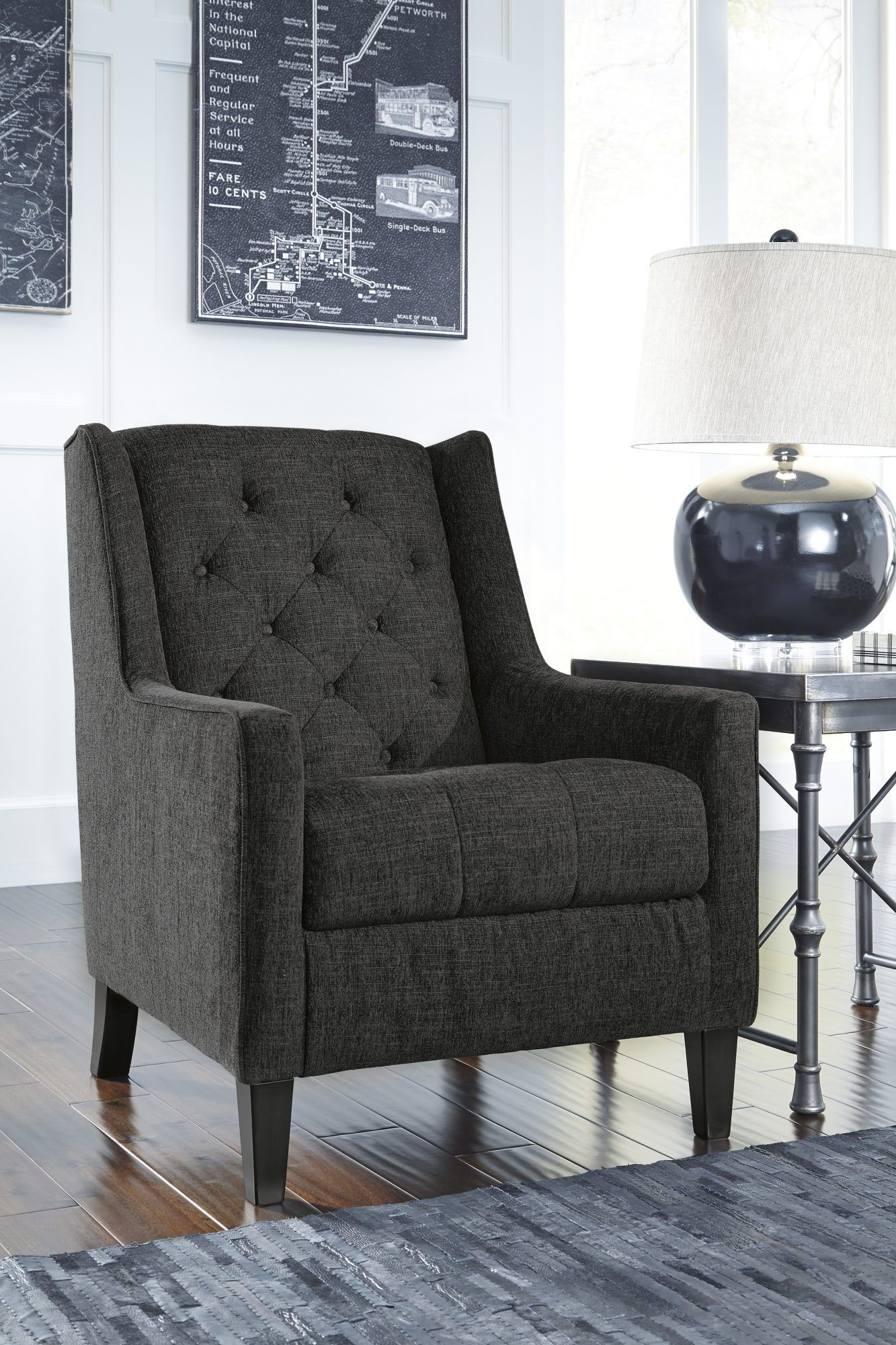 Best Ardenboro Accents Charcoal Accent Chair For The Home 400 x 300