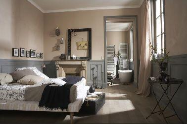 Une chambre avec salle de bain attenante au style rustique\u2026un espace bourré  de charme !
