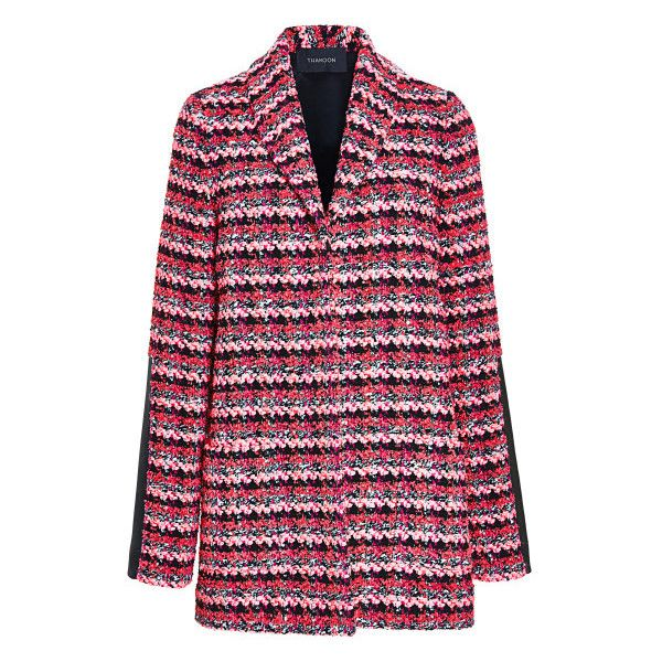 Knit Tweed Cardigan Jacket ($2,490) ❤ liked on Polyvore featuring thakoon