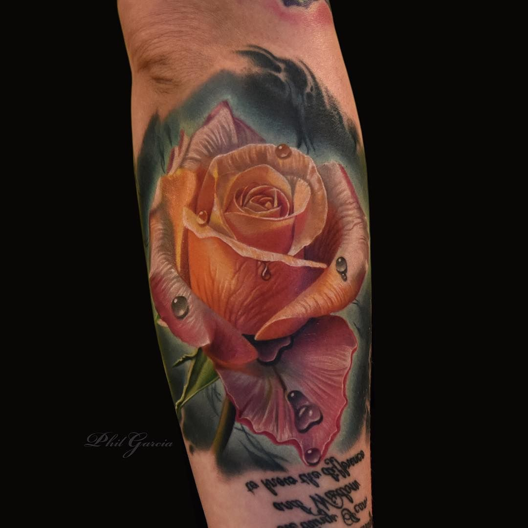 The World Famous Roses By Phil Garcia Tattoo Artists татуировка