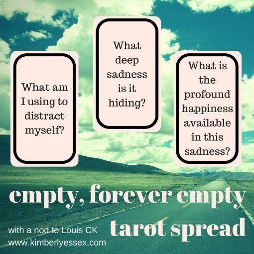 Tarot Card Spread - Empty, Forever Empty - Three Cards