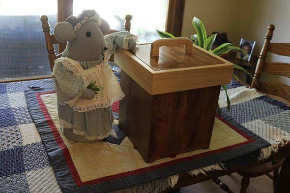 Rustic Handmade Wood Bathroom Trash Can Bathroom Trash Can Wood Bathroom Handmade Wood