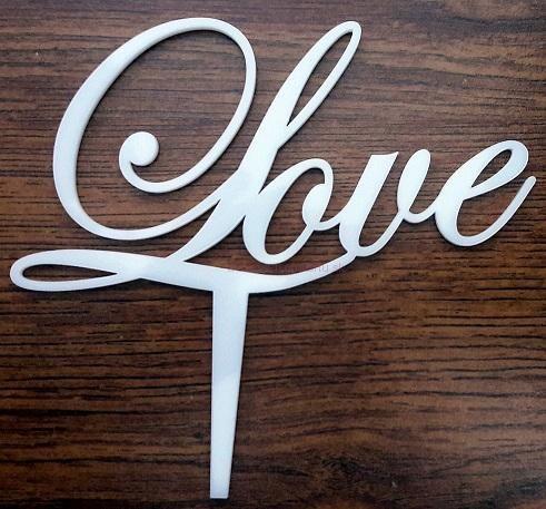 Ozdoba na tortu - Nápis Love
