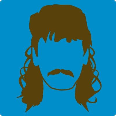 image result for mullet hair silhouette silhouette cameo rh pinterest com mullet hair clipart mullet clipart
