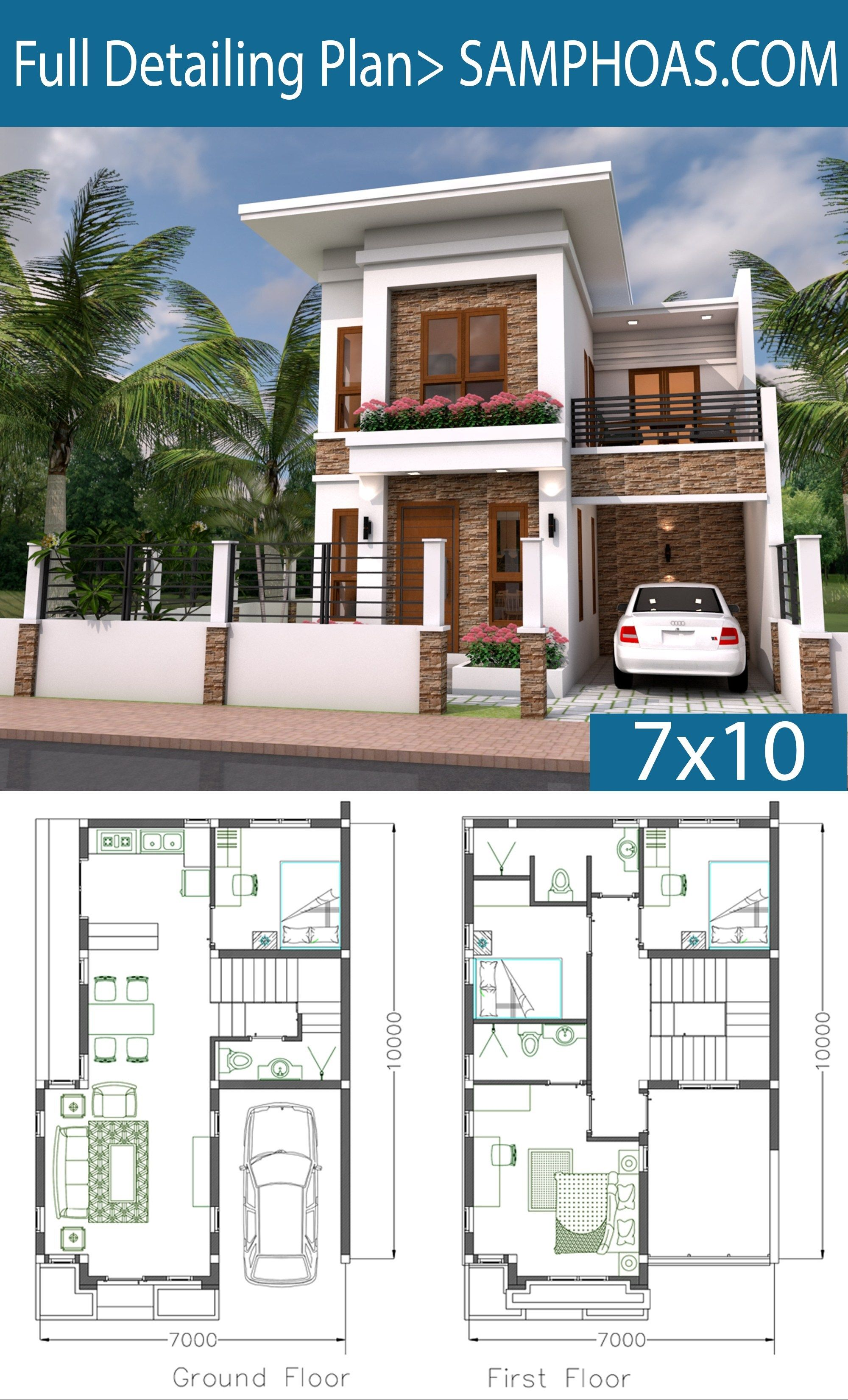 Sketchup Speed Build Home Plan 7x10 Casas Modernas Arquitectura